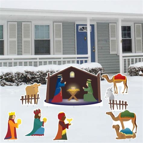 yard nativity ideas nativity yard decorations on flipboard