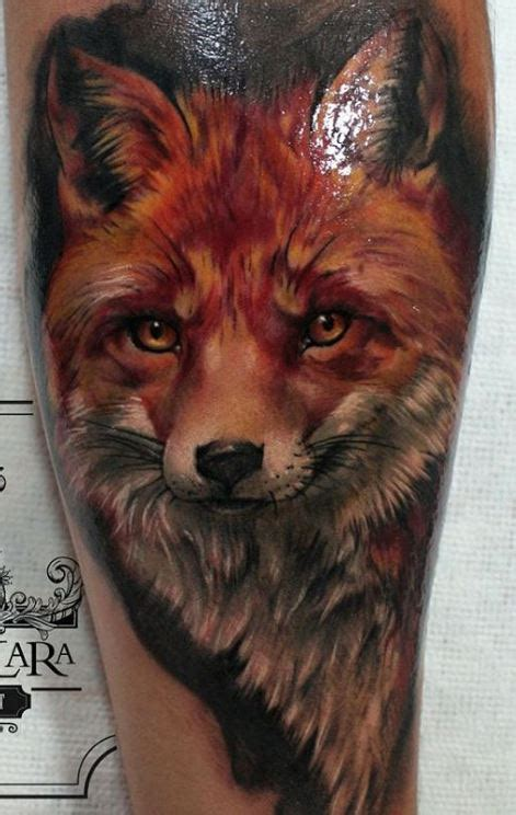 realistic fox tattoo inkstylemag