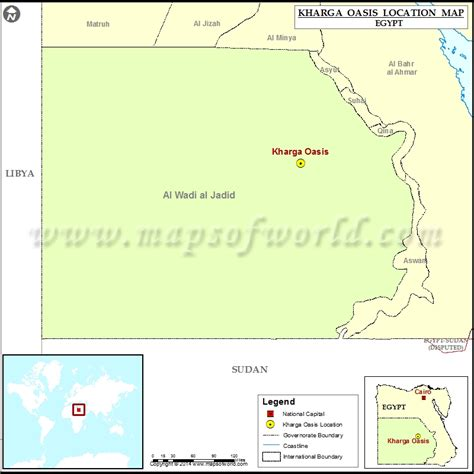 oasis map where is kharga oasis location of kharga oasis in map