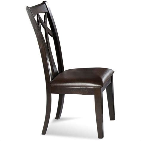 Bassett Dining Chairs Bassett Mirror Elation Back Upholstered Leather Seat Dining Chair Set Of 2 D1078 S800ec