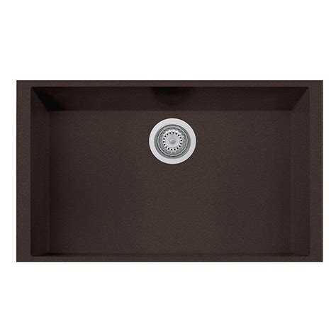 one basin kitchen sink la toscana one undermount granite composite 17 in single
