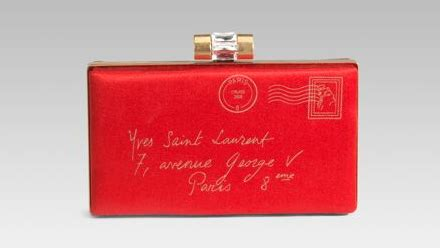 Ysl Minaudiere Satin Clutch by Yves Laurent Minaudiere Letter Satin Clutch