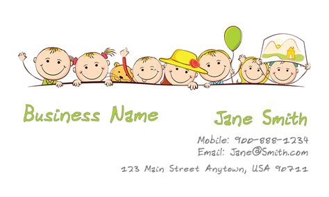 childcare business cards templates babysitting and day care business cards babyshower designs