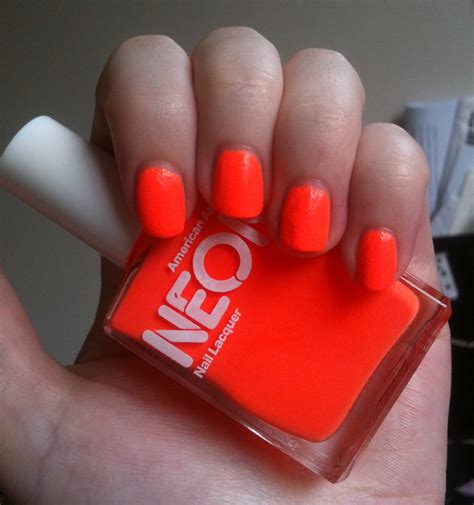 neon coral color american apparel neon coral nail review through
