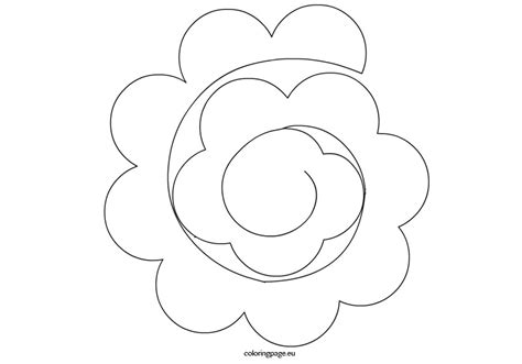 spiral paper rose template coloring page