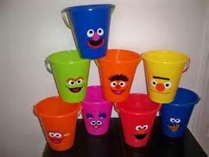 Sesame Favor Ideas by Sesame Birthday Favor Pails Price Is For One