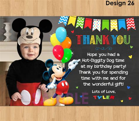 mickey mouse thank you card template 19 mickey mouse thank you cards psd eps free
