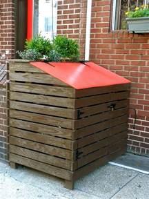 Garbage Bin Storage Ideas Attractive Outdoor Trash Can Storage Abode