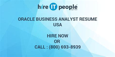 Oracle Business Analyst by Oracle Business Analyst Resume Hire It We Get