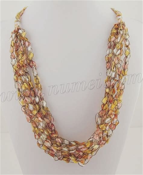 free pattern ladder yarn necklace free crochet pattern ladder ribbon necklace pattern 7