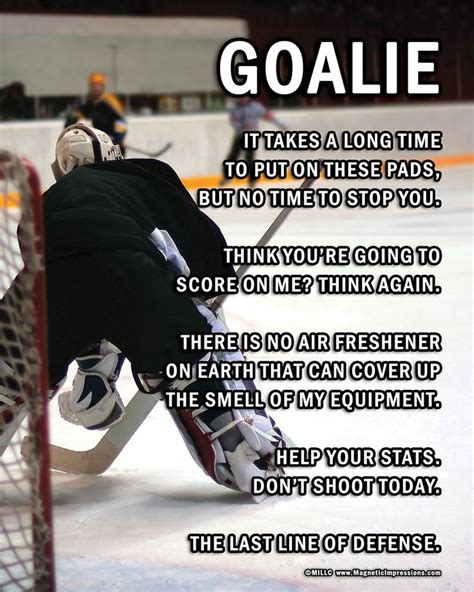 printable hockey quotes ice hockey goalie on ice 8x10 sport poster print ice