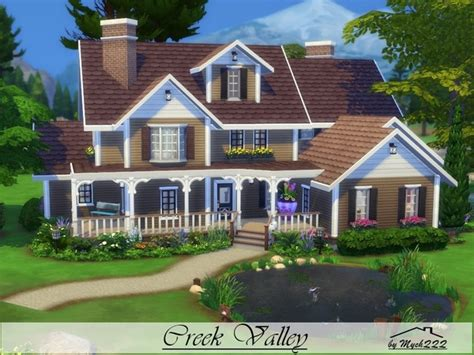 the sims 4 40x30 modern house floor plans mychqqq s creek valley