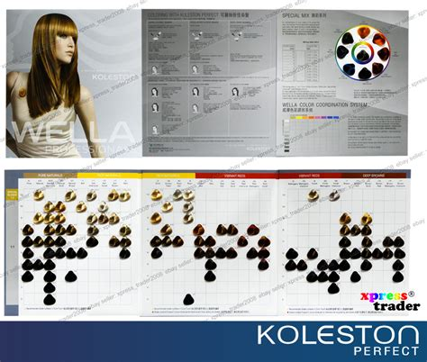 koleston color chart wella koleston permanent tintdye hair colour of