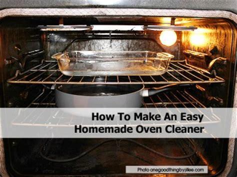 easy homemade oven cleaner