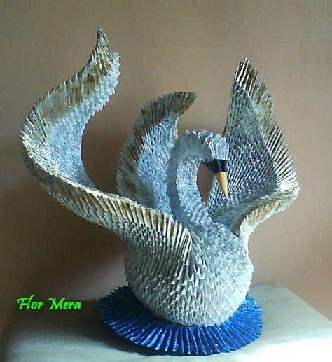 tutorial de cisne en origami 3d mis tejidos y mas cisne de papel