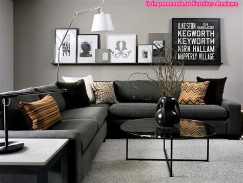 Black Living Room Furniture Dark Gray Corner Sofa Living Rooms With Black Sofas