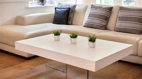 Large White Coffee Table by Large Modern White Oak Coffee Table Funky Tempered Clear