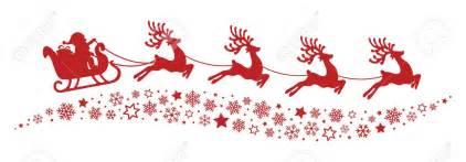 santa sleigh and reindeer silhouette santa sleigh flying clipart clipartsgram