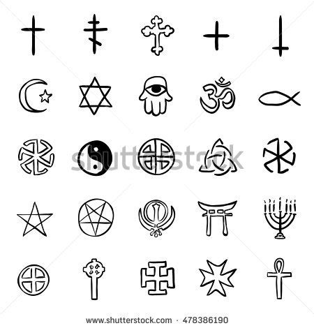 doodle how to make religion religious symbols stock images royalty free images