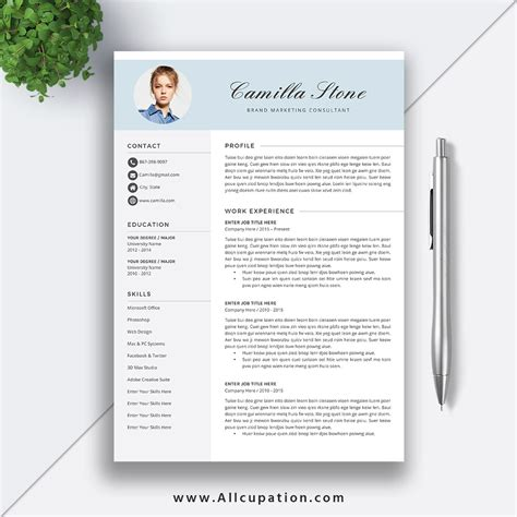 Creative Resume Template Modern Cv Template Word Cover Letter References Instant Download Resume Templates For Mac Computers
