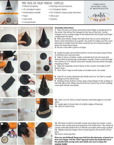 How To Make A Witch Hat Out Of Paper - diy mini witch hat trick or treat pi 241 ata tutorial and
