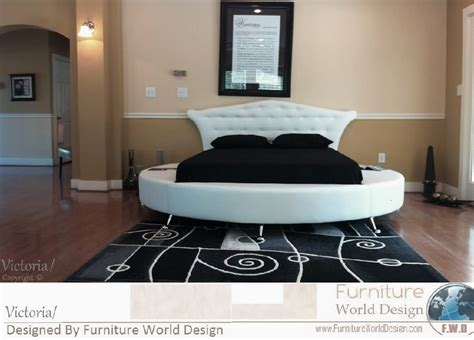 circular beds upholstered leather headboard designed to be hanged on