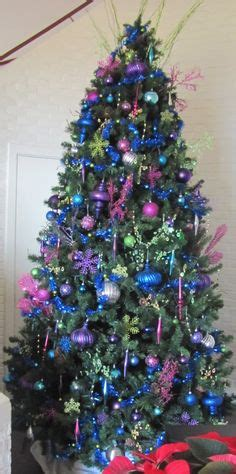 pink and purple tree blue green pink and purple tree