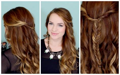 hairstyles kayley melissa easy beachy half up hairstyle for the holidays youtube