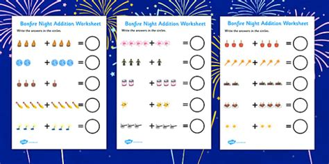 new year eyfs twinkl bonfire fireworks addition sheet bonfire
