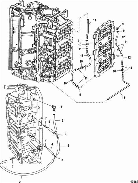 Mercury Marine V 150 Hp Efi 2 5l Oil Lines Parts