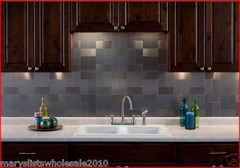 how to take care of tin backsplash for kitchens aspect peel and stick metal brushed aluminum tile