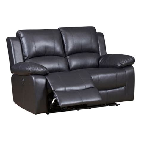 Two Seater Recliner Leather Sofa Buy Two Seater Recliner Sofa Black From Our Leather Sofas Range Tesco