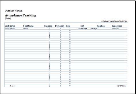 Excel Employee Attendance Tracker Template Excel Templates Time And Attendance Templates Free