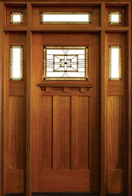 craftsman style woodwork craftsman style wood door with stained glass details