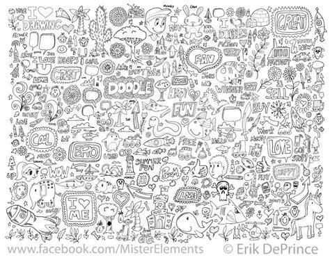 doodle 9 in 1 finished a new doodle set by erikdeprince on deviantart