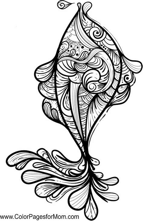 fish zentangle colouring page zentangles adult