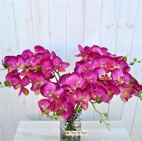 fiore orchidea fiore artificiale orchidea phalaenopsis real touch fucsia