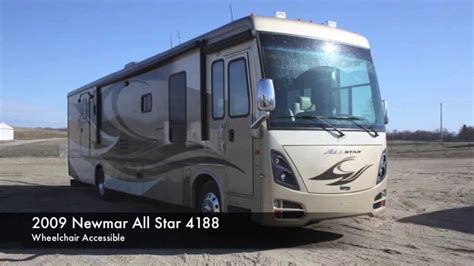 Used 2009 Newmar All Star Diesel Wheelchair Accessible Motorhome   YouTube