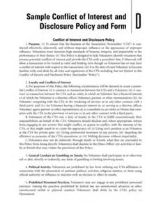 fillable online sample conflict of interest and disclosure