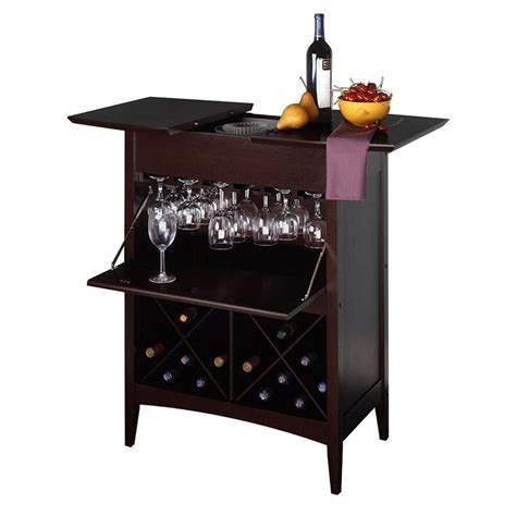 Winsome Wood Wine Cabinet With Glass Door Espresso Shop Winsome Wood Butler Espresso 24 Bottle Beechwood