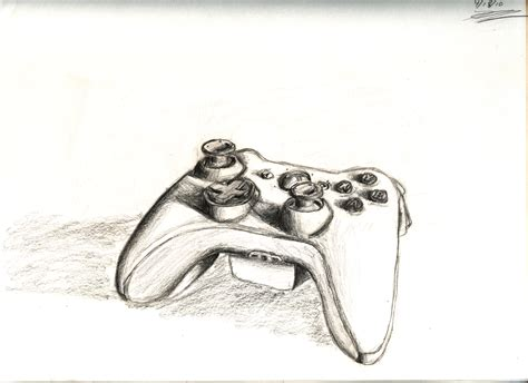 Drawing Xbox Controller by Keithott Drawings