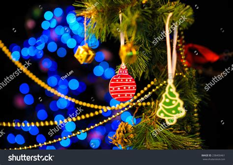 desktop twinkling tree decoration new year decoration abstract blurred stock photo 238400461