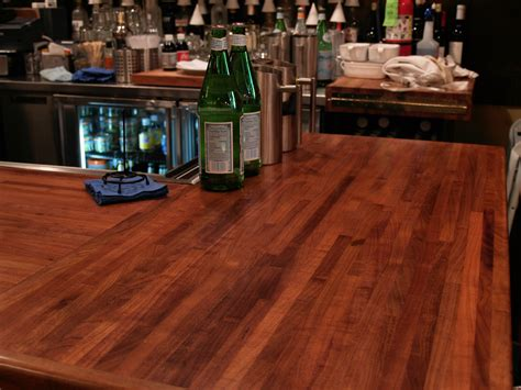 Wood Bar Top Finishes by Custom Wood Countertop Options Joints For Multi Section Tops