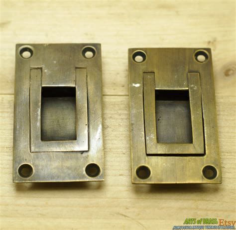 flush mount cabinet door pulls lot of 2 pcs vintage solid brass flush mount ring cabinet door