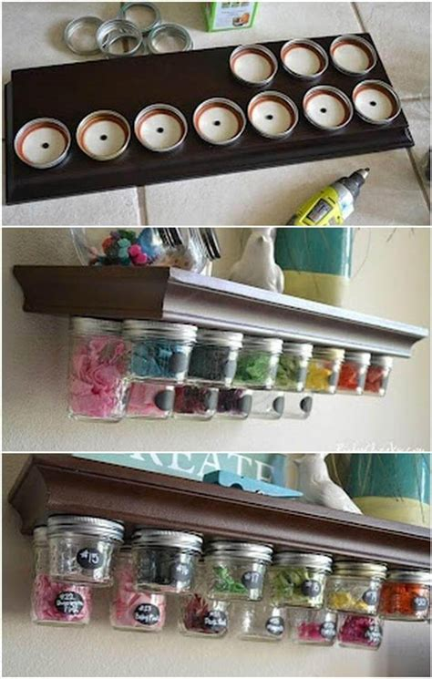 diy jar spice rack 20 diy kitchen organization projects to get a better kitchen diy crafts