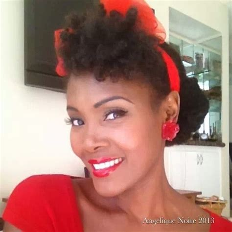 black pin up hairstyles angelique noire pin up hairstyle black pinup girls