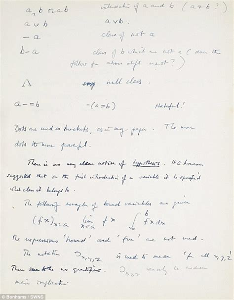 Alan Turing Essay by Alan Turing S Notebook To Fetch 1million At Bonhams Auction In Ny Daily Mail