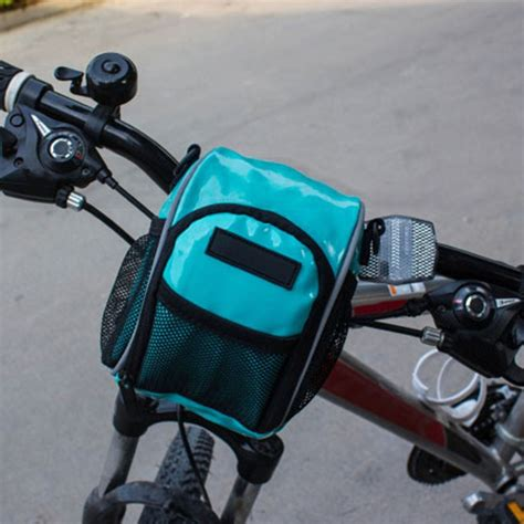 mtb waterproof mtb cycling bike handlebar waterproof leather bag bicycle