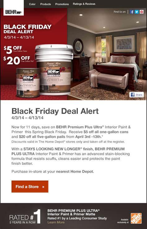 Behr Discount by Behr Black Friday Deal Alert Get An Immediate Discount