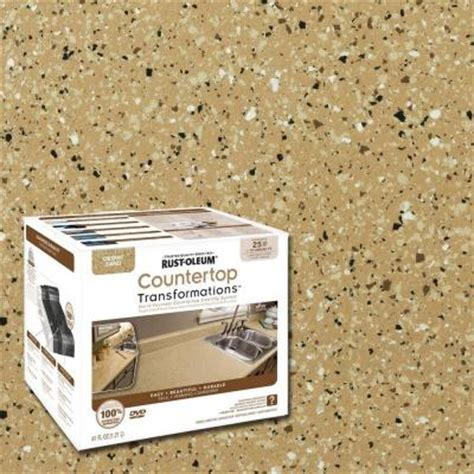 Rust Oleum Countertop Paint by Rust Oleum Transformations 1 Qt Desert Sand Small